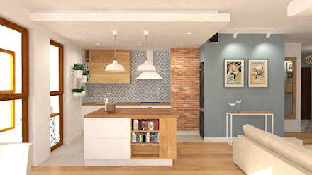 Muebles de cocinas de estilo  por Interior Idea Projektowanie Wnętrz