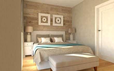 mediterranean Bedroom by Interior Idea Projektowanie Wnętrz