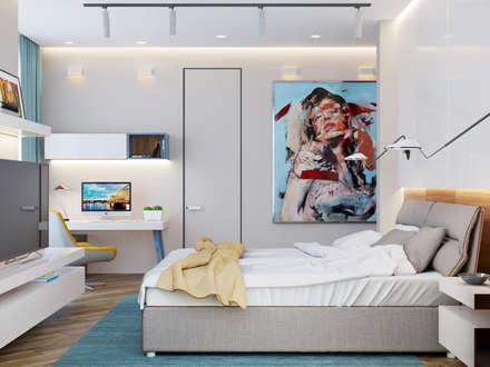 Phòng ngủ by Interior designers Pavel and Svetlana Alekseeva