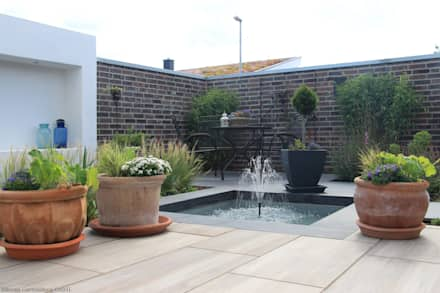 Classic Walnut   Terrasse:  Terrasse von Emperor Outdoor Ceramics