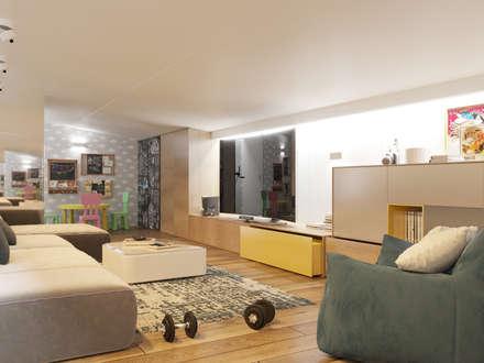ห้องออกกำลังกาย by Interior designers Pavel and Svetlana Alekseeva