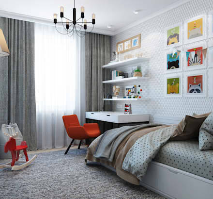 Teen bedroom by Interior designers Pavel and Svetlana Alekseeva