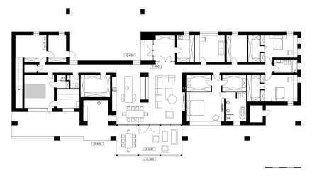 План дома: Загородные дома в . Автор – Архитектурная студия Чадо