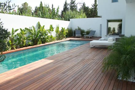 Villa Grey:  Garden Pool by Fares Ksouri Architecte