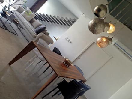 Villa Grey: mediterranean Dining room by Fares Ksouri Architecte
