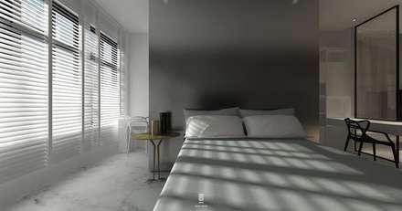 Taoyuan L House :  臥室 by 質覺制作設計有限公司