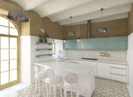 : Cozinhas rústicas por Grupo Norma