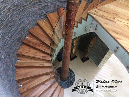 Escaleras de estilo  por Noek Pisos de Madera y Carpintería