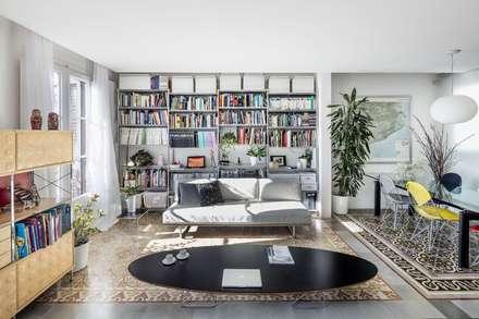 rustic Media room by Nghệ nhân Kiến trúc