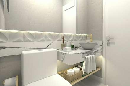 Perspectiva Lavabo: Banheiros modernos por Letícia Saldanha Arquitetura