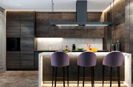 На грани стилей: Кухни в . Автор – U-Style design studio