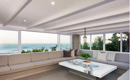 Beach Front House:  Patios by JSD Interiors