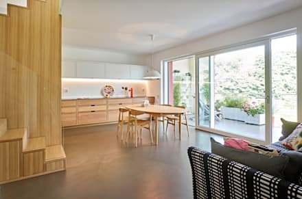 appartamento CS: Sala da pranzo in stile in stile Scandinavo di Burnazzi  Feltrin  Architects
