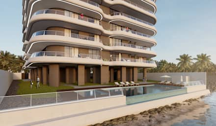 Conacry Sea: modern Pool by Atelier 72 - Arquitetura, Lda