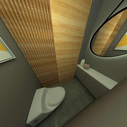 Baño de oficina: Baños de estilo industrial por D Interior
