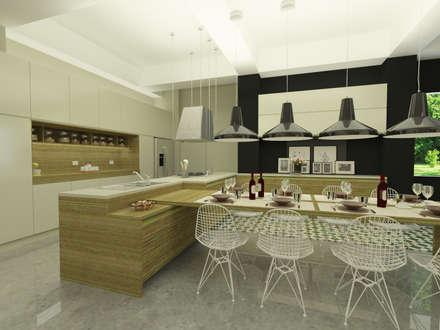 Cocina y comedor: Cocinas integrales de estilo  por D Interior