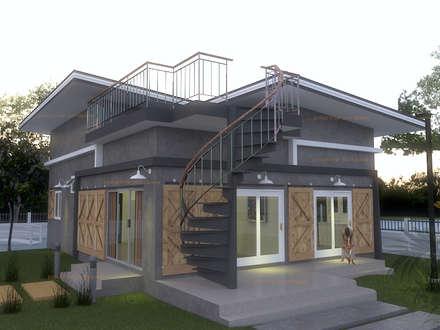 บ้านชั้นเดียวขนาด กว้าง 6 เมตร ยาว 8 เมตร:  บ้านเดี่ยว by แบบบ้านออกแบบบ้านเชียงใหม่