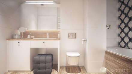 Mieszkanie 2+1: styl , w kategorii Łazienka zaprojektowany przez hexaform
