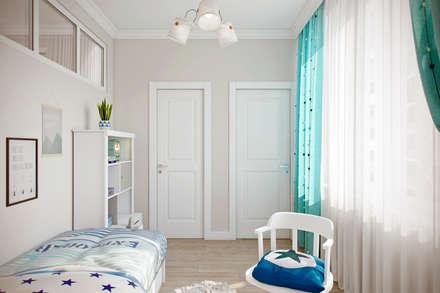 Квартира 56 кв.м. в стиле эклектика в ЖК На Симоновском: Детские спальни в . Автор – Студия архитектуры и дизайна Дарьи Ельниковой