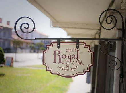 Royal Barbershop (Aveiro): Lojas e espaços comerciais  por Think Bold Studio