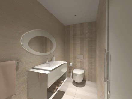 I.S. Social: Casas de banho minimalistas por Enzo Rossi, Home Design