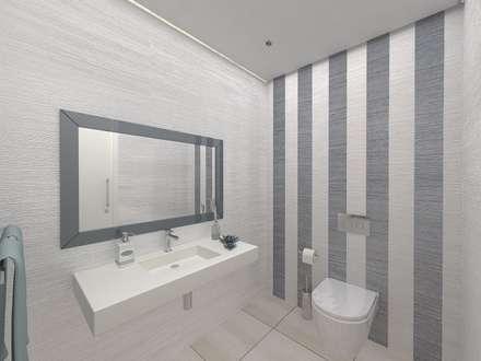 I.S. Social : Casas de banho minimalistas por Enzo Rossi, Home Design