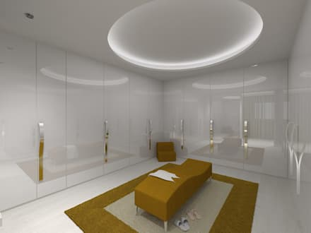 Closet Suite Master: Closets minimalistas por Enzo Rossi, Home Design
