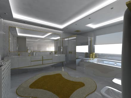 I.S. Suite Master: Casas de banho minimalistas por Enzo Rossi, Home Design