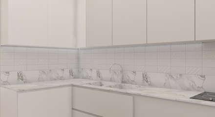 дизайн проект частного дома в стиле : модерн : Встроенные кухни в . Автор – студия дизайна 'план и дизайн'