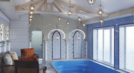 泳池 by студия дизайна 'план и дизайн'