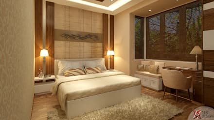 BEDROOM VIEW: minimalistic Bedroom by MAD DESIGN