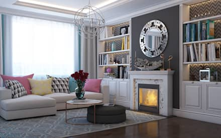France Kvartal: eclectic Living room by Space Options