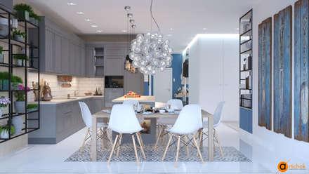 Идеи дизайна светлой кухни: Кухонные блоки в . Автор – Art-i-Chok