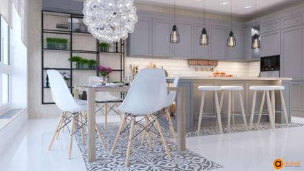 Кухня в белом цвете фото: Кухонные блоки в . Автор – Art-i-Chok