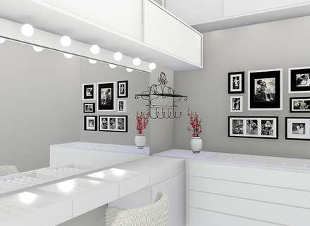 Suite cheia de estilo: Closets modernos por Trivisio Consultoria e Projetos em 3D