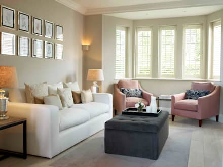 Hampstead, London - Residential: classic Living room by Peach Studio