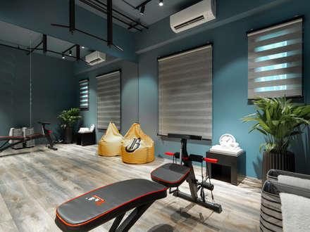 industrial Gym by 存果空間設計有限公司
