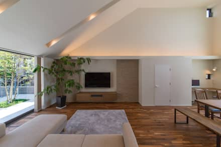 大形山のコートハウス: saimotoが手掛けた壁です。