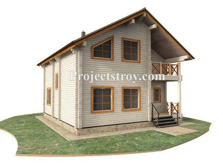 проект деревянного дома из бруса: Деревянные дома в . Автор – Projectstroy