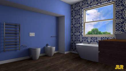 Render Progetto Bagno: Bagno in stile in stile Moderno di Russo Rita