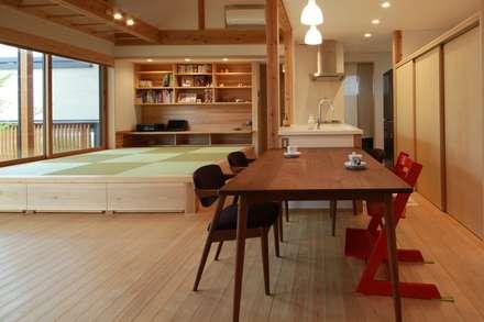 大きな輪の家: 田村建築設計工房が手掛けたダイニングです。