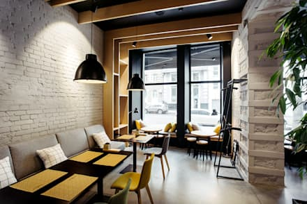 Some like it hot coffee&bar в Харькове от Марии Целик, Canape Agency: Ресторации в . Автор – Canape Agency