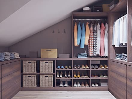 industrial Dressing room by Loft&Home