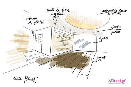 ACQUA E PIETRA | SPA FITNESS & WELLNESS: Sauna in stile  di ADIdesign*  studio