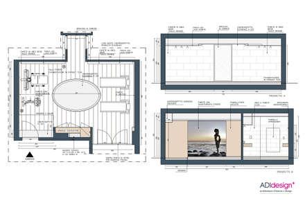 ACQUA E PIETRA   SPA FITNESS & WELLNESS: Palestra in stile in stile Moderno di ADIdesign*  studio