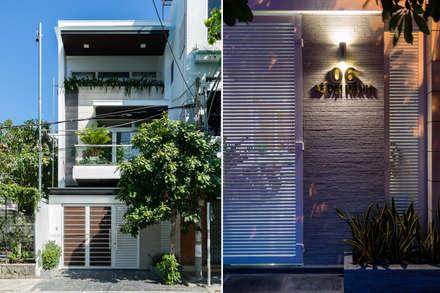 moderne Häuser von Cty TNHH MTV Kiến trúc, Xây dựng Phạm Phú & Cộng sự - P+P Architects