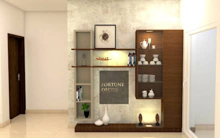 CROCKERY UNIT: eclectic Dining room by FORTUNE DECOR