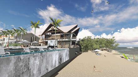 MODELO 2 : Comedores de estilo tropical por EDUARDO NOVOA ARQUITECTO INDEPENDIENTE