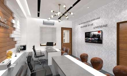 Cabin: modern Study/office by Ravi Prakash Architect