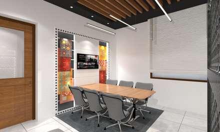 Meeting Room: modern Study/office by Ravi Prakash Architect